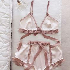 The Lucienne Triangle Bra & Hi-Waist Panty
