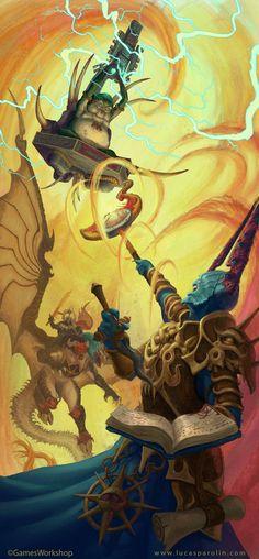 Seraphon Slann vs Gaunt Summoner and Archaon by LucasParolin on DeviantArt