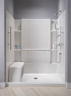 "Sterling 72280100 48"" x 36"" Complete Seated Shower from the Accord Series - FaucetDirect.com"