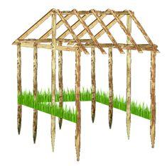 plan pour le montage d'une cabane pour dindons