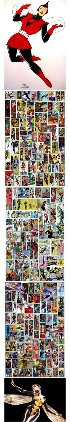 The Wasp - more costume changes than any other super hero!