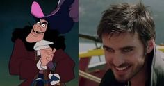 Who ever would have thought the creepy guy from the Disney movie would be attractive when put into Once Upon A Time.