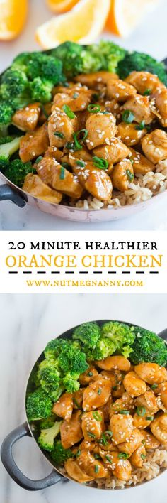 This 20 minute healthier orange chicken is the perfect weeknight dish. Why pay for take out when you can make this quick and easy dish from scratch. Trust me, you'll LOVE this dish it's seriously that EASY!