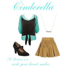 """""""Cinderella inspired outfit"""" by a-thorn-in-my-side on Polyvore"""