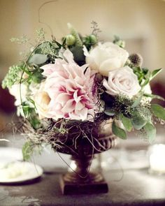 Beautiful arrangement using antique roses