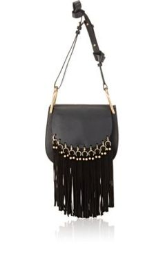 Chloe \u0026#39;Small Hudson\u0026#39; Suede Tassels Leather Shoulder Bag | Leather ...
