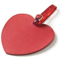 Nothing says love like a Heart Luggage Tag - in 2 sweet colors: Pink or Red!    http://www.clava.com/heart-luggage-tag.html#