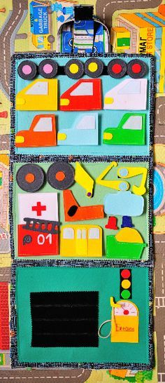 This is a fantastic garage activity folder, would make a great quiet book for boys. Органайзер для автолюбителя!