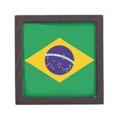 Brazil flag Brazilian jewelry gift box