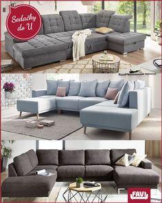 Priestranné a pohodlné sedacie súpravy pre celú rodinu v modernom prevedení. Outdoor Sectional, Sectional Sofa, Outdoor Furniture, Outdoor Decor, Interior Design, Decor Ideas, Home Decor, Nest Design, Modular Couch