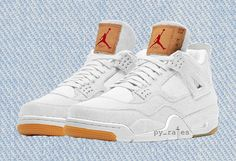 "brand new 3431f 330d0 Levi s x Air Jordan 4 ""White Denim"" Releasing in June Jordan Shoes, Jordan"