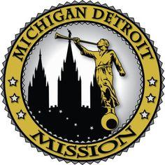 Michigan Detroit LDS Mission Angel Moroni Gold