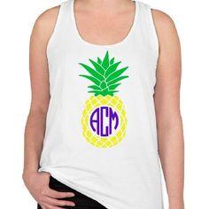 Comfort Colors Monogram Pineapple Tank