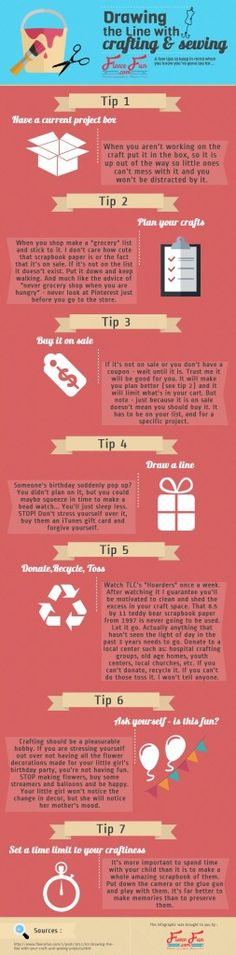 Drawing the line with your sewing and crafting info graphic brought to you by FleeceFun.com