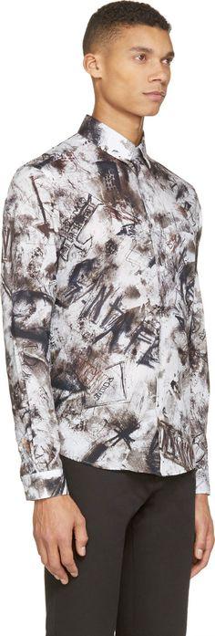 McQ Alexander McQueen Plaster Graffiti Button-Up Shirt