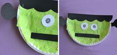 Manualidades de Halloween para niños con paltos desechables: Frankenstein