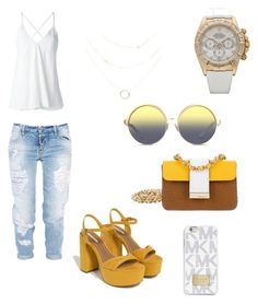 """""""Untitled #1"""" by eua-anagnwstou on Polyvore featuring MICHAEL Michael Kors, Rolex, Dsquared2, Zara, Dondup and Matthew Williamson"""