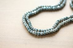 Electroplate Glass Beads - 50 pcs Dark Sea Green Half Plated Faceted Glass Crystal Rondelle Beads Loose Beads - 6x4mm