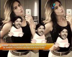 TV SAQUA TV: O Cantor Leonardo se mostra irritado com gravidez da filha