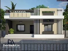 Best Of Single Floor House Front Design Village An House Balcony Design, House Outer Design, Single Floor House Design, House Outside Design, Village House Design, Kerala House Design, Simple House Design, House Front Design, Flat House Design
