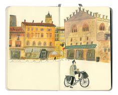 Travel Sketchbook, Watercolor Sketchbook, Artist Sketchbook, Watercolour, Gouache, Observational Drawing, Beautiful Sketches, Sketchbook Inspiration, Urban Sketching