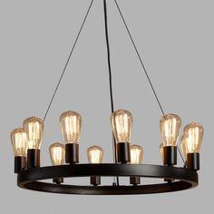 Round 12-Light Edison Bulb Chandelier (affiliate)