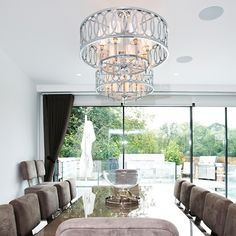 We worked with our client to offer designs that suited their brief. This chandelier is manufactured hand-made to the highest spec using chromed finished metal and fabric shades in an Art Deco style Fabric Shades, Chrome Finish, Art Deco Fashion, Lighting Design, Hampstead Heath, Chandelier, Ceiling Lights, Dining, Metal