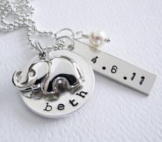 I want this in about 5 months.. New Baby  New Mom Personalized Necklace  by Patricia8Anderson, $56.50