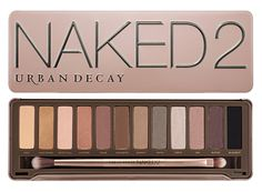 Urban Decay Naked 2 Palette. $50.   I like the colors of this one much more because they're more browns and nudes as opposed to golds, silvers, and shimmery pale colors.