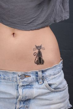 Small cat tattoos for women cat tattoo designs for women cats and Hip Tattoo Small, Small Tattoo Placement, Small Couple Tattoos, Small Hand Tattoos, Cat Tattoo Designs, Tattoo Sleeve Designs, Tattoo Designs For Women, Sleeve Tattoos, Dog Tattoos