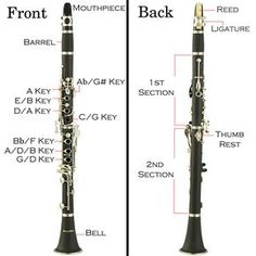 Clarinet Diagram plus the basics on how to get started playing the clarinet