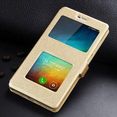 가죽 case 대한 xiaomi redmi 3 pro/xiaomi redmi 3 s 전화 창보기 높은 품질 보호 플립 case