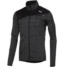 Puma Men's Jacket has a 360-degree reflective grid pattern. #reflectivegear
