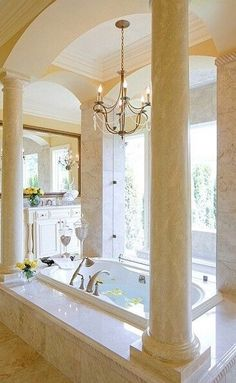 un peu de marbre dans la salle de bains !