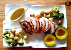 This pork belly has given me a new outlook on this delicious piece of meat Healthy Family Meals, Healthy Snacks, Pork Belly Roast, Roast Recipes, Tasty Dishes, I Foods, Delicious Desserts, Meat, Dinner