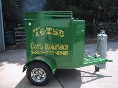 Corn Roaster concession trailer made in Texas.