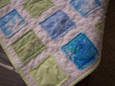 Little rag quilt for a baby boy.