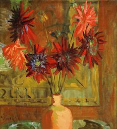 ❀ Blooming Brushwork ❀ - garden and still life flower paintings - Still-life with Flowers by Isaac Grünewald (Sweden)