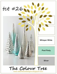 addINKtive designs: Christmas at the Colour Tree #26 - Whisper White, Pool Party and Silver