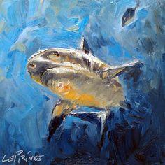 Kevin LePrince: Charleston Artist: Big Fish Little Fish - 8x8 Oil Painting