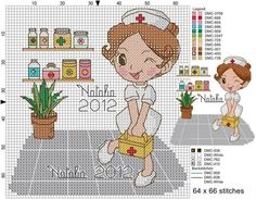point de croix infirmiere - cross stitch nurse