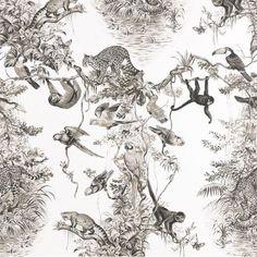 Equateur Hermes Dedar toile wallpaper