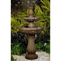 Classic Pineapple Tiered Outdoor/Indoor Water Fountain