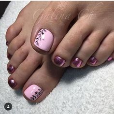 Trendy Beach Pedicure Ideas Zehennägel Sommer - Projects to try - manicure Pink Toe Nails, Pretty Toe Nails, Cute Toe Nails, Toe Nail Color, Summer Toe Nails, Feet Nails, Pretty Toes, Toe Nail Art, Chevron Nails