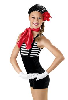 Stretch Velvet Short Unitard; Weissman Costumes