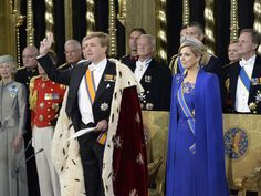 King Willem Alexander and Queen Maxima on their Inauguration Day 30 April 2013, Amsterdam