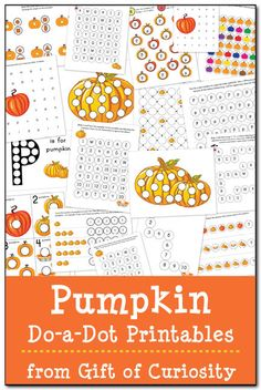 Free Pumpkin Do-a-Dot printables featuring 19 pages of activities to celebrate the season while helping your young children learn a variety of skills. Autumn Activities For Kids, Fall Preschool, Halloween Activities, Preschool Learning, Preschool Activities, Counting Activities, Preschool Curriculum, Fall Crafts, Kids Crafts