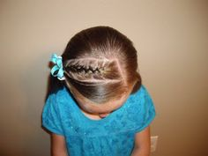 #braids #hair #plait #girl #child #fashion #bow #ribbon #blue