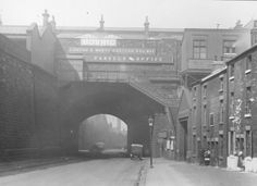 LNER Parcels Office and Furnival Road Railway Bridge showing Victoria Station British Rail, Old Trains, Nice Photos, The Old Days, Water Tower, Nottingham, Leicester, Sheffield, Old Pictures