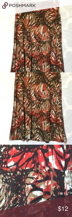 CATO fall colors size Medium Ladies stretch Skirt Excellent condition. Cato Skirts A-Line or Full